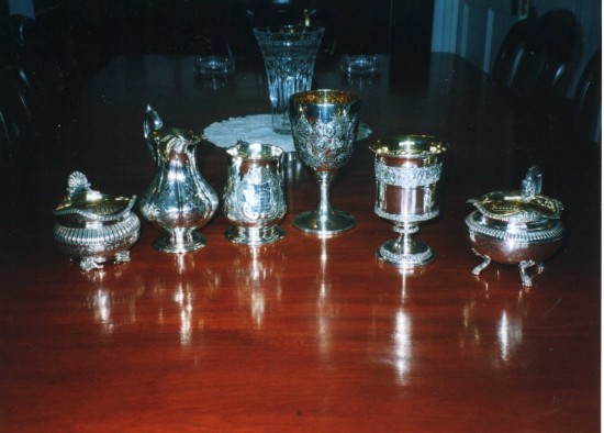 Tredegar Agriculitural Show Cups from 1849 to 1860