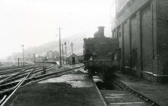 Train Outside Loco Sheds Tredegar