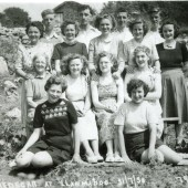 Members of Prims Chapel TredegarAt an outting at Llanmadog 1950