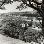View from Heathfield towards St James Hospital Tredegar