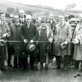 The offical opening of the Pontywedo Bridge by Alderman Thomas Davies