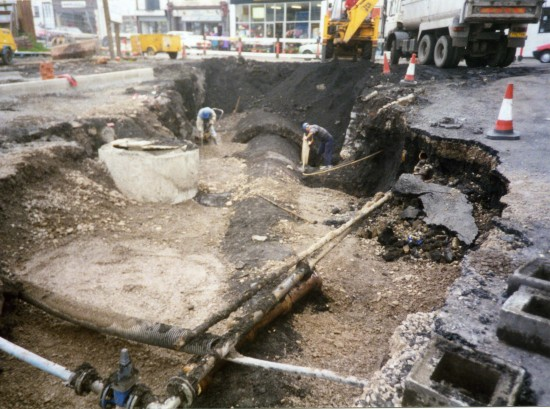 Working at Commercial Street Tredegar