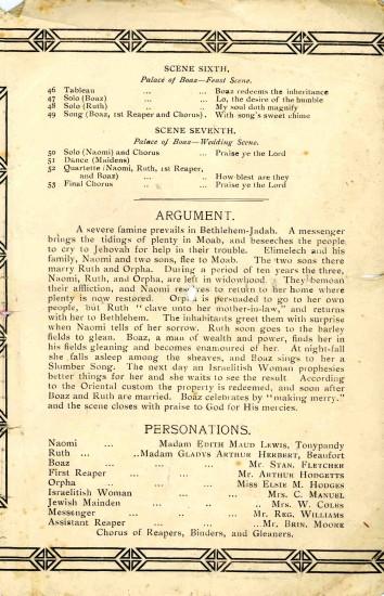 Programme 'THE MOABITESS'