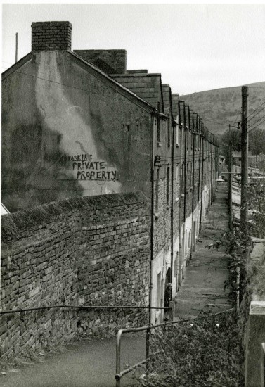 Bowen Terrace before being pulled down Tredegar