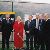 St. Illtyd's School: Cutting the first sod.