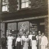 Herberts Grocery shop: 1920's