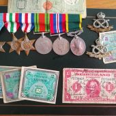 Medals and Battalion Signed Bank Notes